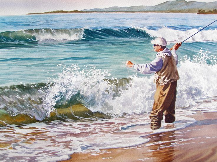 108 best images about paintings waves surf on pinterest for Santa barbara fishing