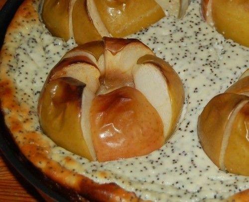 Творожно-яблочный чизкейк с маком / Детские рецепты