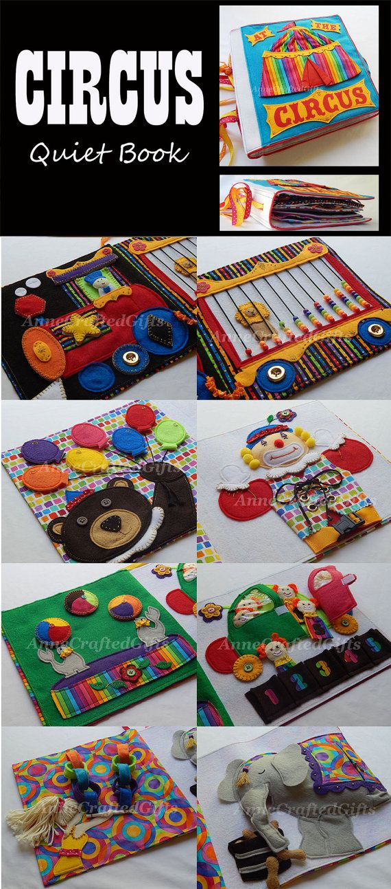 Circus Quiet Book Busy Book Toddler or por AnneCraftedGifts en Etsy
