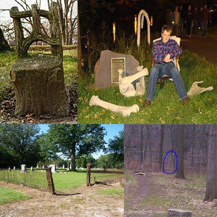 La sedia del diavolo si trova in un piccolo cimitero e la leggenda vuole che chiunque vi si sieda, morirà nel giro di sette anni.