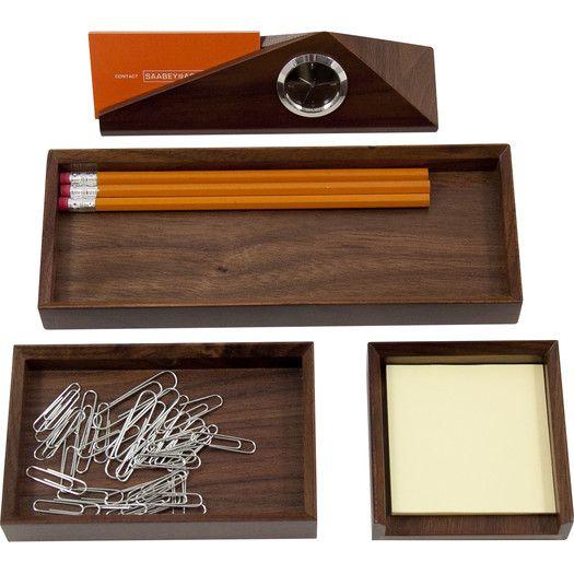 Bey-Berk 4 Piece Desk Organizer Set