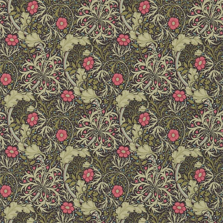 The Original Morris & Co - Arts and crafts, fabrics and wallpaper designs by William Morris & Company | Products | British/UK Fabrics and Wallpapers | Morris Seaweed (DM3W214716) | Archive III Wallpapers