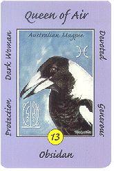 Queen of Air (Magpie) - Australian Animal Tarot by Ann Williams-Fitzgerald