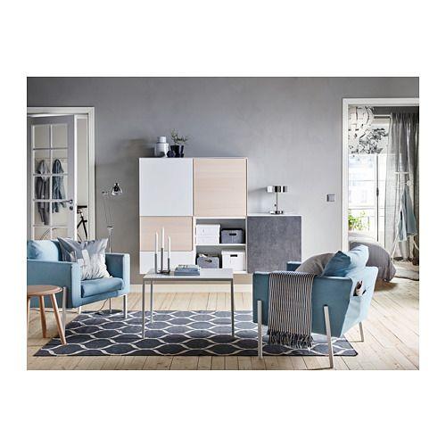 NYBODA Coffee table w reversible table top - white/gray - IKEA