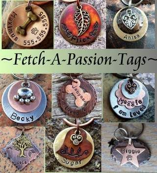 Custom Pet ID tag... Cute!