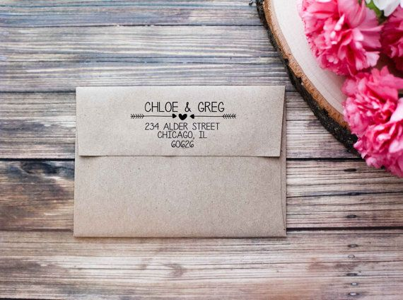 Return Address Wedding Invitation Rubber Stamp by RedCloudBoutique, $24.99