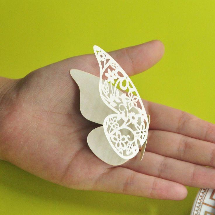 Кот бабочка лазерная резка бумаги место карты / эскорт карточным / чашки / бокал карты для сувениры свадебные сувениры украшения купить на AliExpress