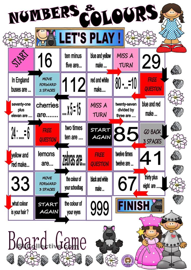 NUMBERS AND COLOURS - BOARD GAME