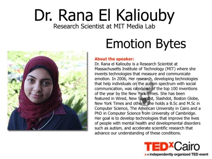 rana el kaliouby thesis Thesis proposal research proposal technology and emotion research assignment paper (essay the absence of emotion in our technology is soon to become a notion of the past as scientist rana el kaliouby targets to introduce a new piece of technology that uses emotions to.