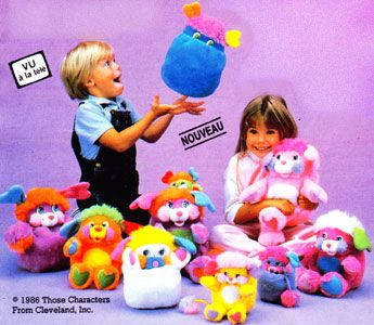 Popples by Mattel (1986-1988).  Popples were the JAM! I had a small obsession with these furry things and their alluring bright colors.