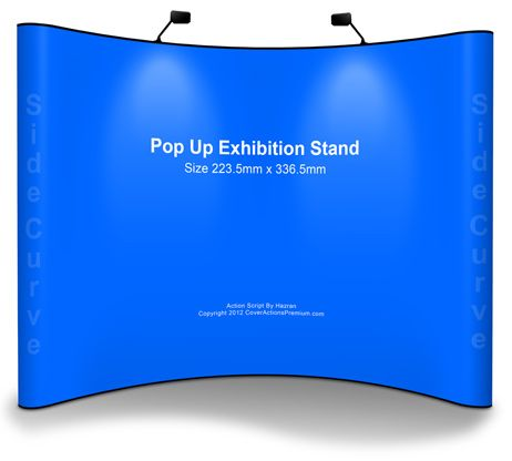 Pop Up Exhibition Stand  Mock Up Action Script