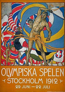 Olympics Poster for Stockholm.  Add Around The Rings on www.Twitter.com/AroundTheRings & www.Facebook.com/AroundTheRings for the latest info on the Olympics.