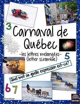 """These 3 worksheets are great as filler activities or to supplement your """"Carnaval de Québec"""" unit! Along with these sheets is a """"pictures"""" vocabulary list sheet. Answer keys are also included! These are great for helping students with learning or reinforcing vocabulary related to """"Carnaval de Québec""""."""