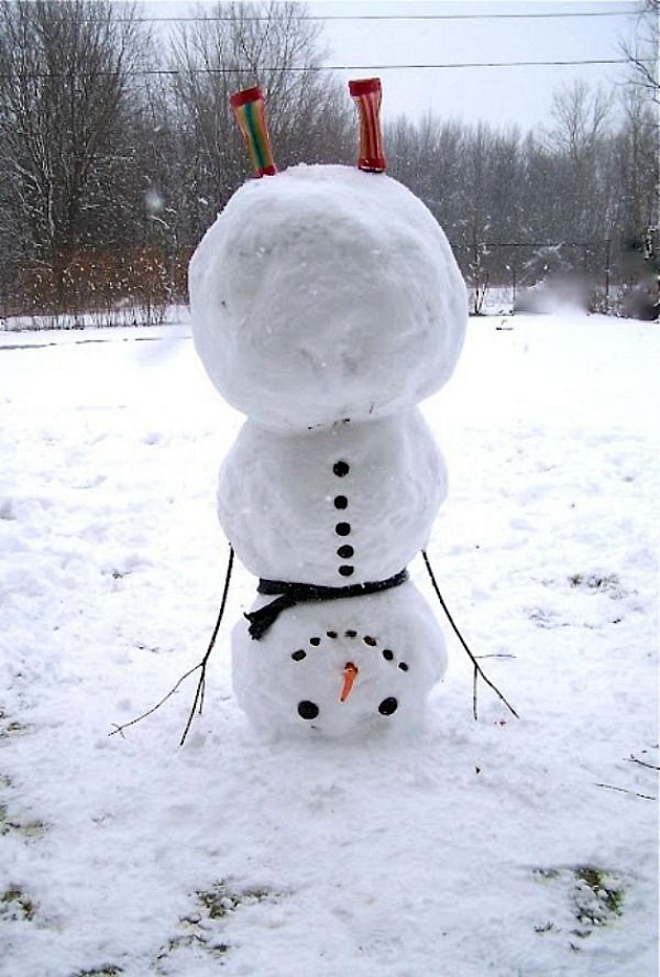 Winter Wonderland | Upside Down Snowman