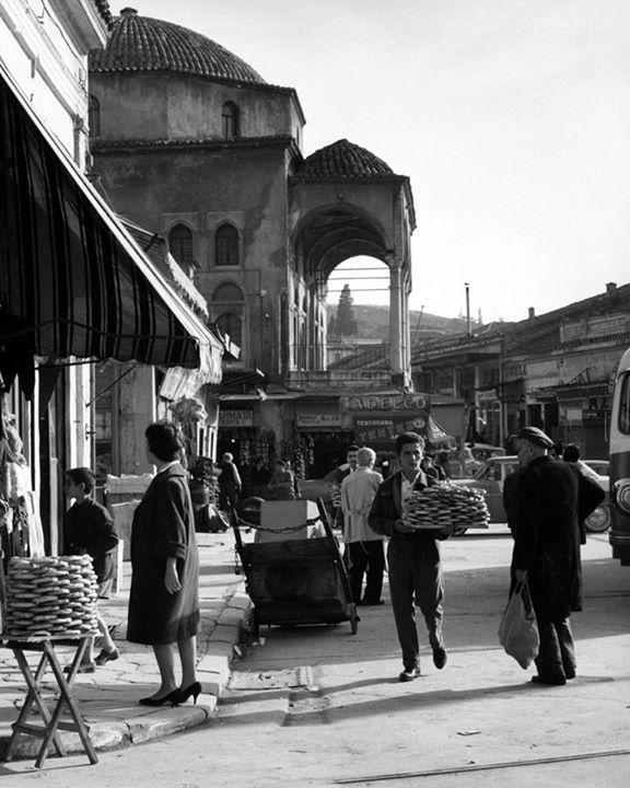 1960 ~ Monastiraki square, Athens