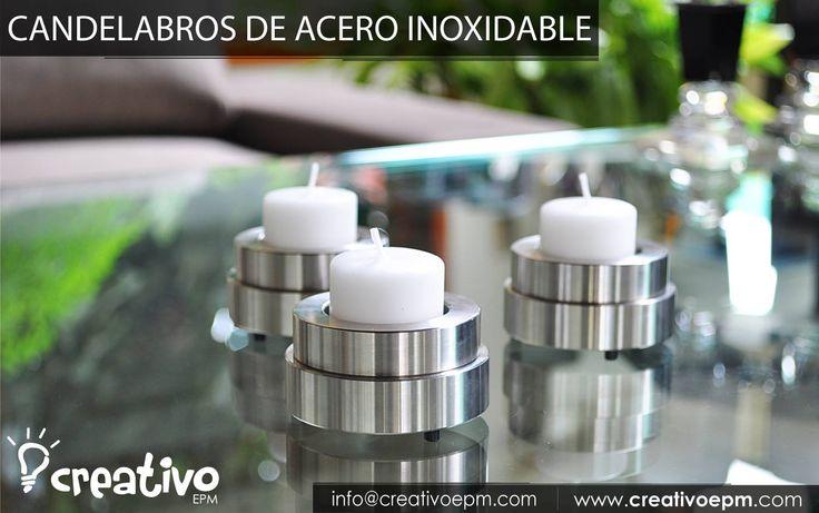 #Candelabros fabricados en acero inoxidable. Venta al por mayor.