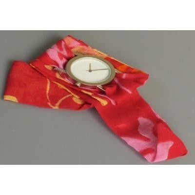 Bez Kordonlu T-Box Saat Kırmızı Karışık