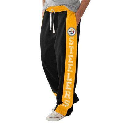 Pittsburgh Steelers Tackle Fleece Pants - Black/Gold