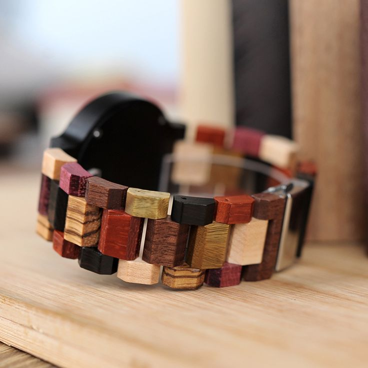 Colorful Fashion Zebra & Ebony Wooden Watch With Date Display  in Gift Box  Men style internet unique products shops fashion for him band awesome accessories gift ideas beautiful guys dads outfit boxes pictures man gifts casual For sale buy online USA Shopping Websites Free Shipping montre en bois homme garçon papa cadeaux idées originales mode Achat Acheter en ligne Site de vente france  Best Latest 2018 Trend