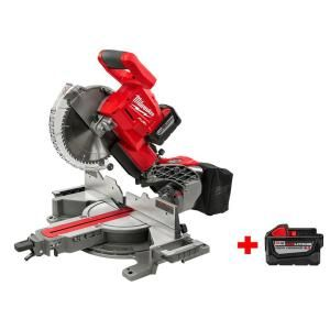 Milwaukee M18 18-Volt FUEL Lithium-Ion Cordless 10 in. Dual Bevel Sliding Compound Miter Saw Kit with Free M18 9.0Ah Battery-2734-21HD-48-11-1890 - The Home Depot