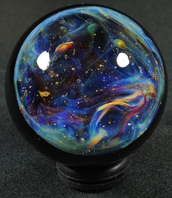 A Nebula in the Stars Glass Marble by SCGlassStudio. Pretty cool ️LO