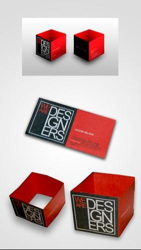 22 best business cards images on pinterest carte de visite visit cube business card it turns into the shape of a cube when flat its colourmoves