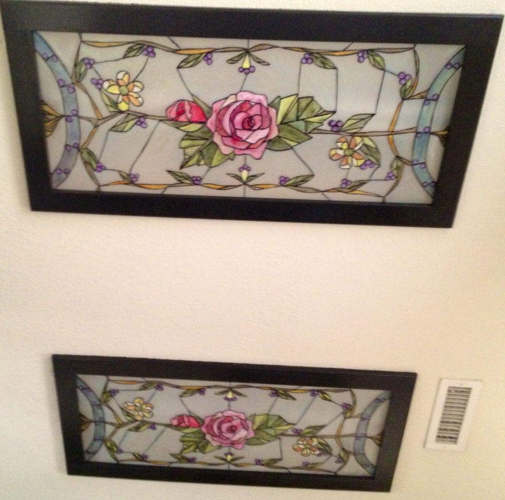 Faux Stained Glass Painted On Those Ugly Acrylic Panels In My Kitchen Fluorescent
