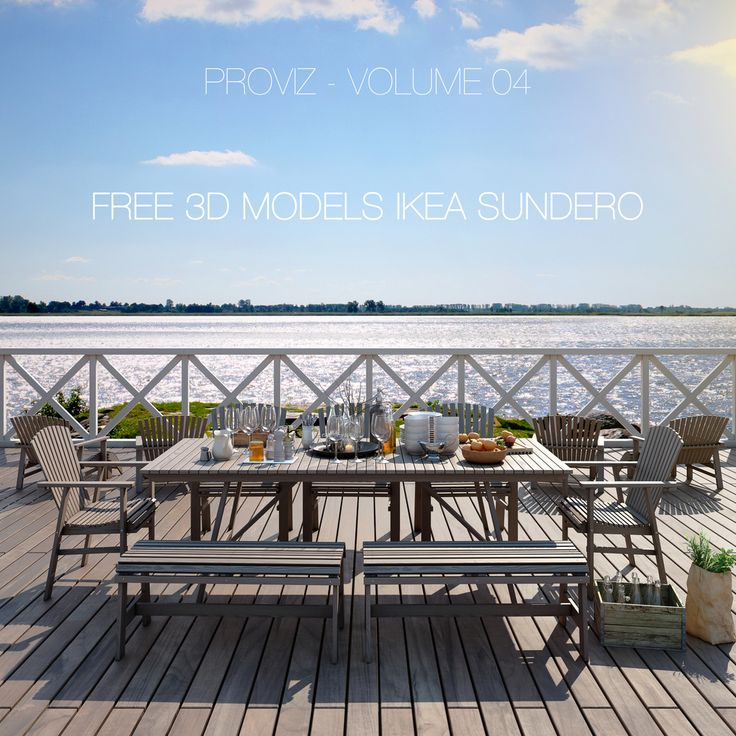 FREE 3D MODELS IKEA SUNDERO OUTDOOR FURNITURE SERIES — PROVIZ | architectural rendering visualizations and 3D walkthrough animations