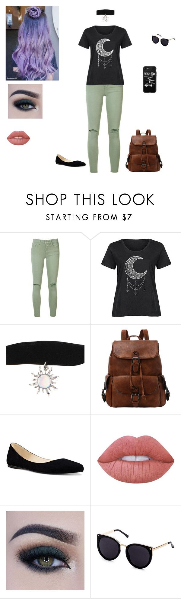 teen outfit by nevaehweir619 on Polyvore featuring LC Trendz, Joe's Jeans, Nine West, Hot Topic, Casetify, Too Faced Cosmetics, Lime Crime and plus size clothing