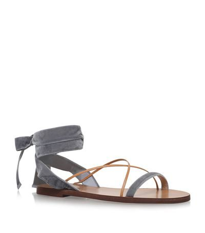 Valentino Flat Velour Sandals available to buy at Harrods.com. Shop designer shoes online and earn rewards points.