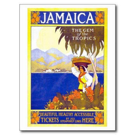 Affiche vintage de voyage de la Jamaïque - la Carte Postale | Zazzle