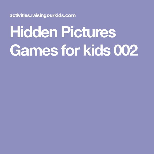 Hidden Pictures Games for kids 002