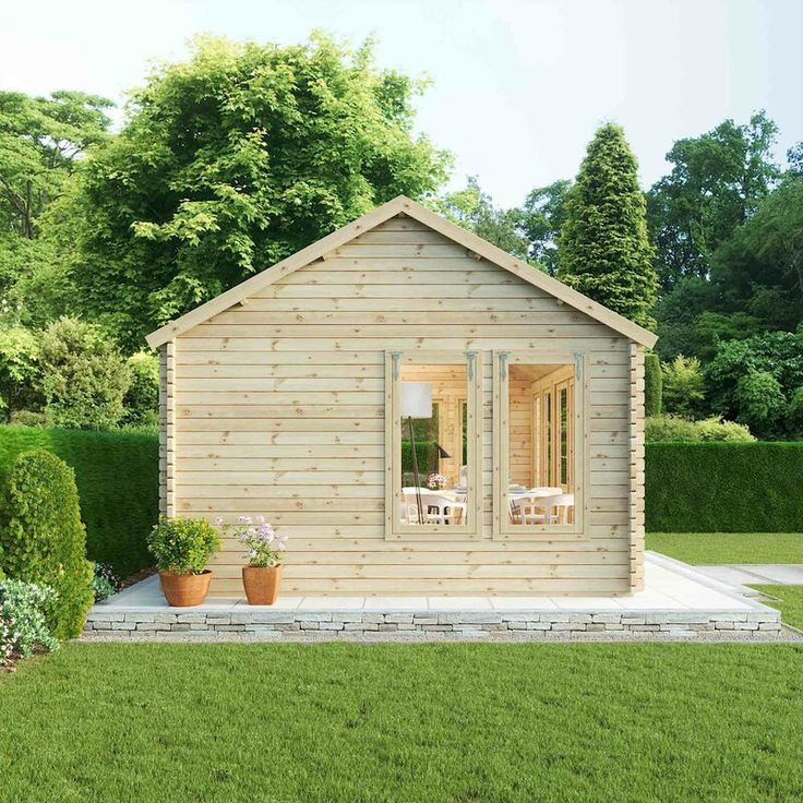 Sol 72 Outdoor Pool House 18 X 13 Ft Tongue Groove Log Cabin Wayfair Co Uk Summer House Large Log Cabins Cabin