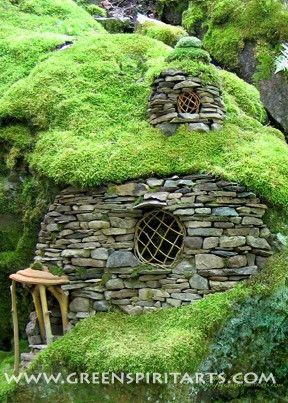 Mossy hobbit house