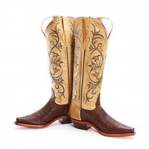 BootDaddy Collection with Tony Lama Brown Smooth Ostrich Cowgirl Boots - Cowgirl Boots - Boots #CowboyCupidBeMine