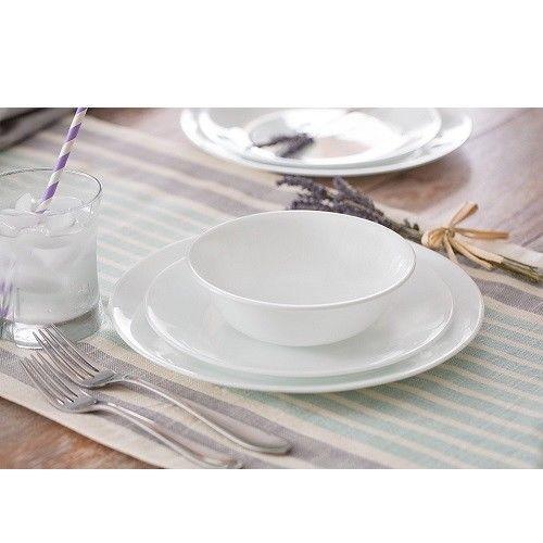 Dinnerware Set For 12 Service Dishwasher Microwave Safe Break Chip Resistance  #DinnerwareSetFor12
