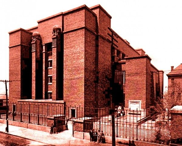 21 Best Flw Larkin Administrative Building Images On Pinterest Frank Lloyd Wright Bison And