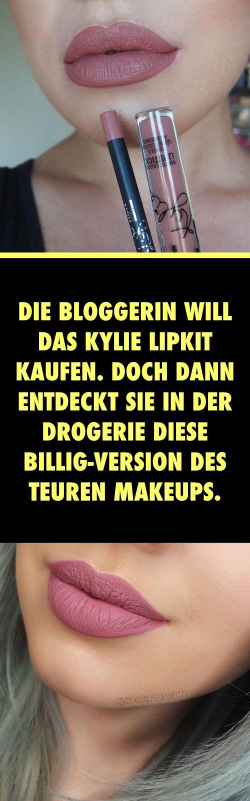 Die Bloggerin will das Kylie Lipkit kaufen. Doch dann entdeckt sie in der Drogerie DIESE Billig-Version des teuren MakeUps.