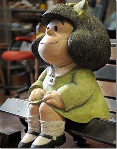 Mafalda, en la calle Defensa ,Buenos Aires ARG.