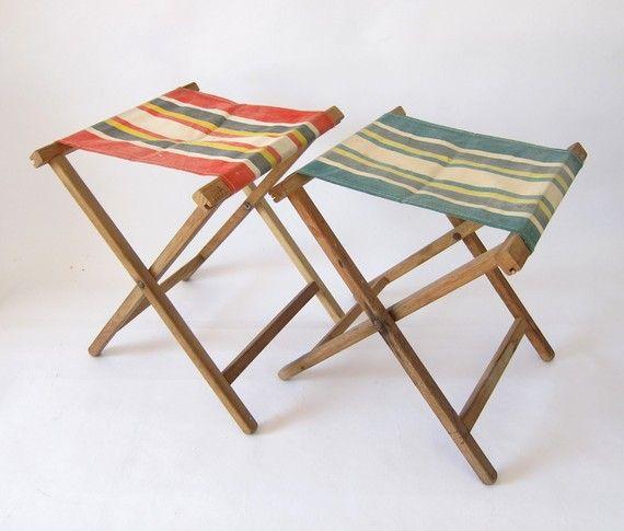 vintage camping stool