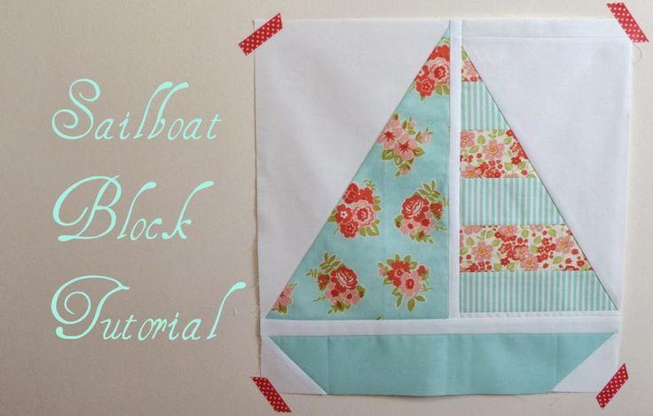 Pretty Little Quilts: Summer Beach Quilt Tutorial - Part IV - Sailboat Block