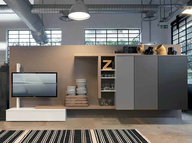 Freestanding TV wall system SIDE 14 by Fimar