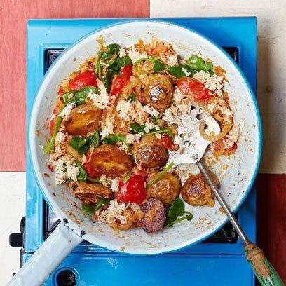 Crab, Watercress and new potatoes: Hash Recipe, Food Recipes, Best Recipes, Crab Watercress, Potatoes, Tomatoes, Crabs, Camping Recipes