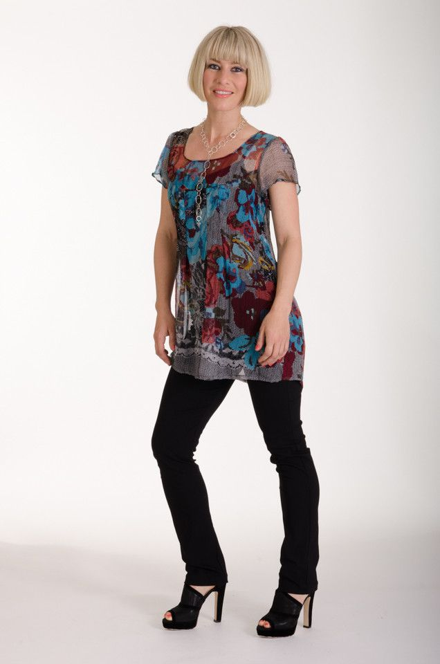 Pretty summer tunic, made in New Zealand by Moa