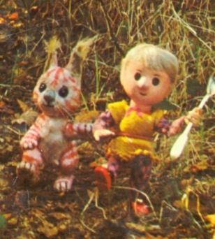 Pippin & Tog from Pogles wood, Watch with Mother - 1960's. One four Dachshunds is named Pippin after this character!