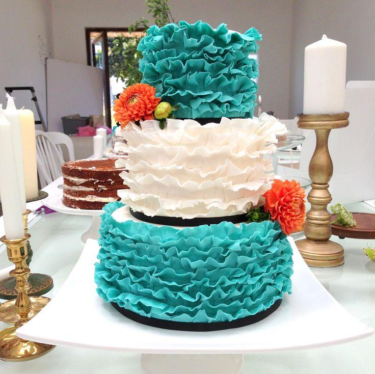 Best 25+ Ruffled wedding cakes ideas on Pinterest ...