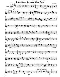 Super Mario Bros Sheet Music for Flute or Saxophone