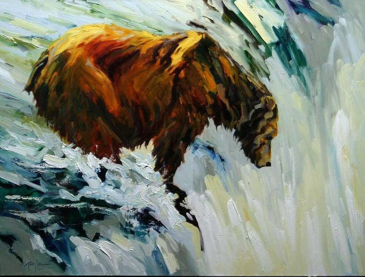 Grizzly Bear Paintings American Bear Paintings - Bears, Bears and More Bears by Terry Lee