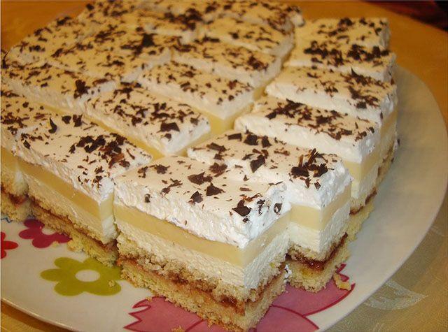 Üdítően finom, sütemény vendégeknek vagy csak a hétköznapokra. Hozzávalók(24 x 34 cm tepsihez) 3 tojás 3 evőkanál cukor 4 evőkanál liszt 1 evőkanál olaj 1[...]