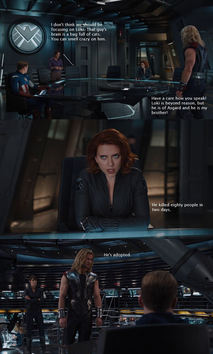 Thor. Best line of The Avengers.